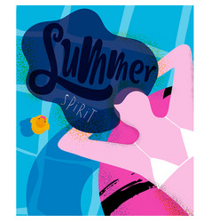 Poster summer spirit vector