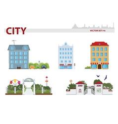 Public building vector image