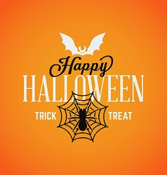 Retro Vintage Happy Halloween Badge vector image