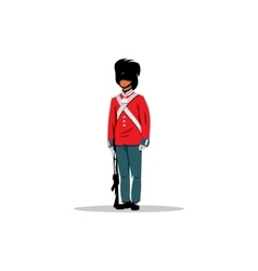 Royal British guardsman sign vector image
