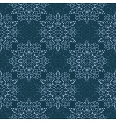 Seamless Mandala Pattern over blue vector image