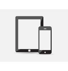 Set of modern digital tablet and mobile phone vector