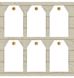 Set of white paper collection stickers and label vector image