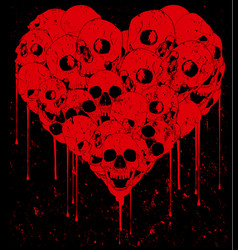 skull love vector image