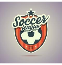 Soccer league badge vector image vector image