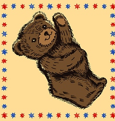 Standing bear pattern vector image vector image