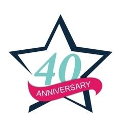 Template Logo 40 Anniversary vector image vector image