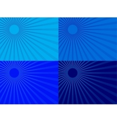 The blue rays of the sun Eps 10 vector image