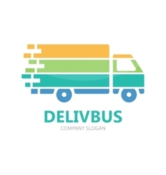 Truck logo design Fast delivery symbol or vector image vector image