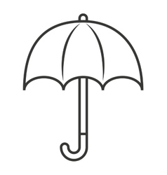 umbrella isolated icon design vector image
