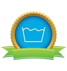 Wash certificate icon vector