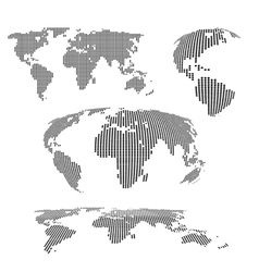 world maps halftone vector image vector image