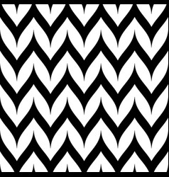Zigzag chevron seamless pattern curved wavy lines vector
