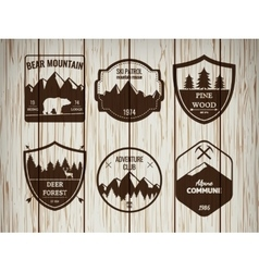 Camping and outdoors adventure vintage logos vector