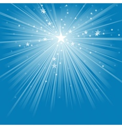 Light rays and stars vector