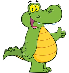 Alligator or crocodile showing thumbs up vector