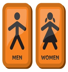 Man and women restroom sign vector