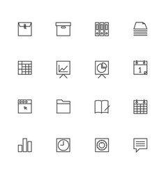 Business and finance icon sets line icons vector