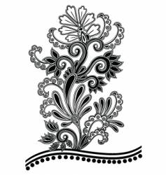 batik floral vector image