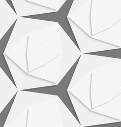White hexagonal shapes layered seamless pattern vector