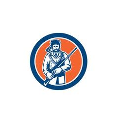 Davy crockett american frontiersman vector