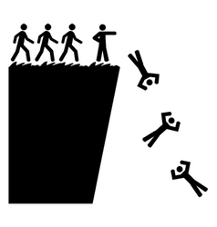 Off a cliff vector image