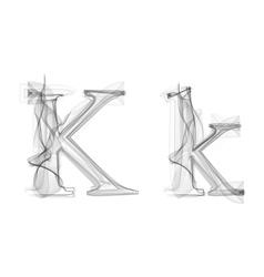Black Smoke font Letter K vector image
