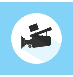 Video camera footage cinema icon pro silhouette vector