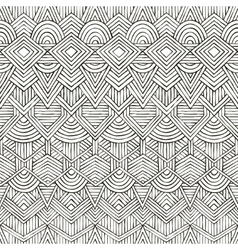 Seamless tribal pattern hand-drawn vector