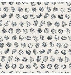 background with cakes vector image