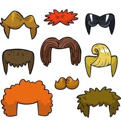 wigs set doodle vector image