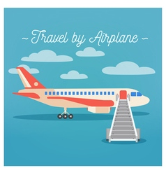 Travel banner tourism industry airplane travel vector