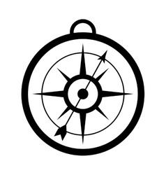 Simple compass icon vector