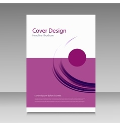 Abstract cover brochure background vector