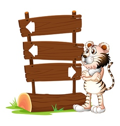 A tiger and the signboards vector image vector image