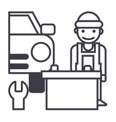 auto service line icon sign vector image vector image