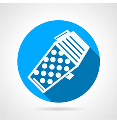 Blue flat icon for paintball hopper vector