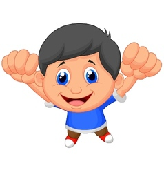 Boy cartoon posing vector image vector image