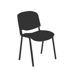 Chair icon isolated on ligth vector