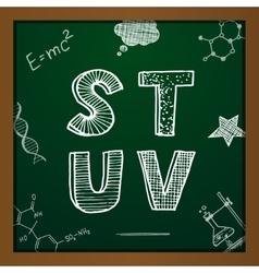 chalk drawing alphabet vector image