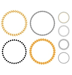 Circle template sticker vector