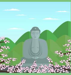 Flat buddha vector