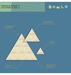 Geometric design template for infographics vector image vector image
