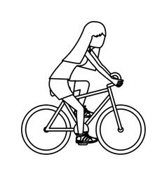 Girl riding bike design vector