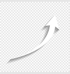 Growing arrow sign white icon with soft vector