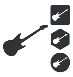 Guitar icon set monochrome vector image