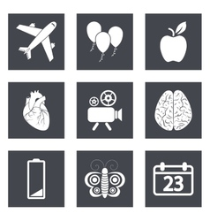 Icons for Web Design and Mobile Applications set 2 vector image
