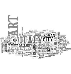 Italian travel guide text background word cloud vector