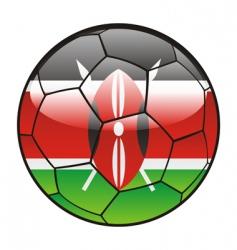kenya flag on soccer ball vector image