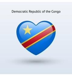 Love democratic republic of congo symbol heart vector